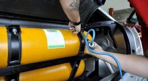 Dobra número de conversões de motor a diesel para gás natural